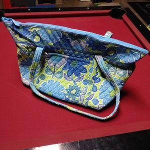 Vera Bradley Blue/Green Duffel Bag Purse